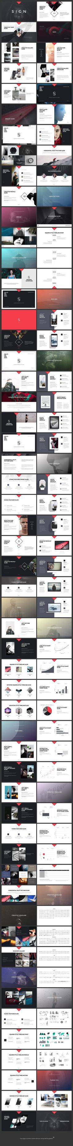 SIGN Keynote Presentation Template #keynote #template #simple #business