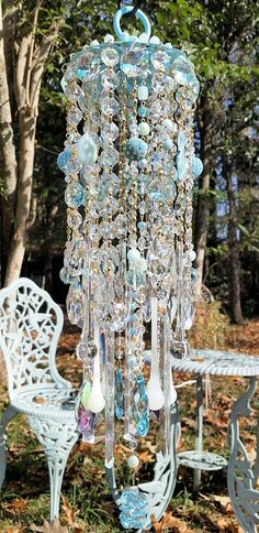 Sheri's Crystal Designs | Peacock Crystal Wind Chime