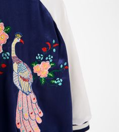 Image 4 of Embroidered bomber jacket from Zara