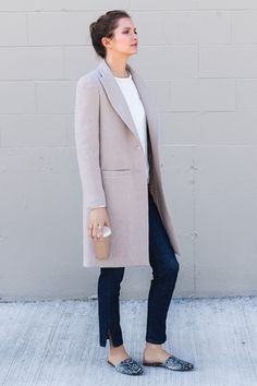 Beautiful coat. Any Summer. What pulls colours into Summer: pinkish grey tones. They just work with this kind of skin, eye, hair,  and right makeup and wardrobe colours.