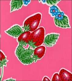 """""""Strawberry"""" in Pink - Oilcloth"""