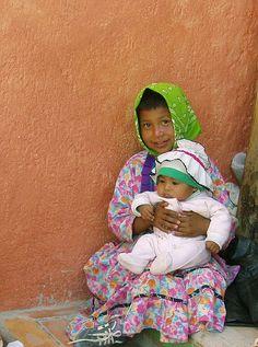 Ninos de Mexico: Tarahumara Girl and Baby
