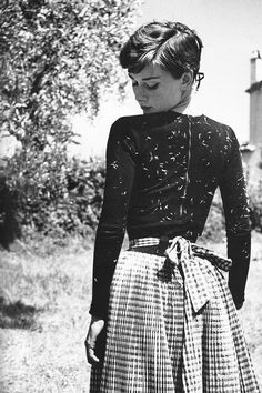 Audrey Hepburn photographed by Philippe Halsman in Italy, 1954