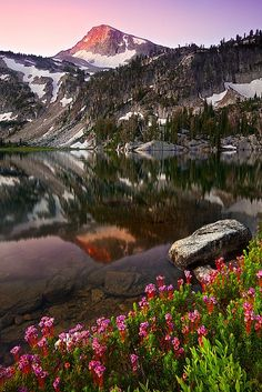 Mirror Lake - Eagle Cap Wilderness located in the Wallowa Mountains of northeastern Oregon,
