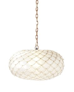 $209 20Dia x 10.5H ONLY 60 WATTS! Capiz Scalloped ChandelierCapiz Scalloped Chandelier