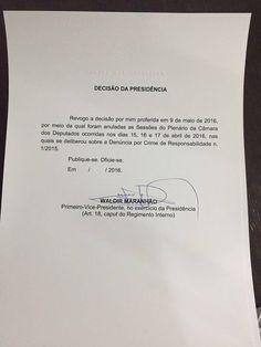 Folha Política: O próprio Waldir Maranhão já revogou ato em que anula sessões do impeachment; veja documentos