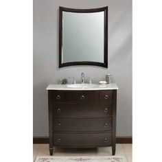 """Check out the Virtu USA LS-1041 Venice Espresso Traditional Bathroom Vanity Set priced at $999.00 at Homeclick.com.  free shipping. """"white"""" counter...  36""""w x 22""""d x 36"""" h"""