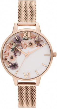 Looking for Olivia Burton Watercolour Florals Mesh Strap Watch, ? Check out our picks for the Olivia Burton Watercolour Florals Mesh Strap Watch, from the popular stores - all in one. Trendy Watches, Cool Watches, Watches For Men, Gold Watches Women, Cheap Watches, Wrist Watches, Men's Watches, Mesh Bracelet, Bracelet Watch