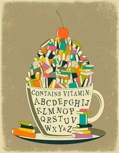 Books contain vitamins A B C D E F G H I J K L M N O P Q R S T U V W X Y Z