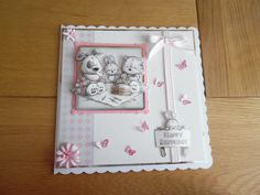 Birthday card using Smudge & Mitten from Hunkydory Kids Cards, Baby Cards, Hunkydory Crafts, Hunky Dory, Craftwork Cards, Heartfelt Creations, Little Books, Hobbies And Crafts, Smudging