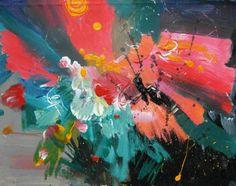 "Saatchi Art Artist Olga Tsarevska; Painting, ""abstract Interstellar"" #art"