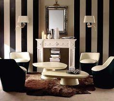 Líneas en tus paredes...Las líneas tanto horizontales como verticales pueden cambiar el aspecto de cualquier espacio. Aportan color, dinamismo y por sí solas adornan las paredes sin necesidad de accesorios como cuadros o espejos.