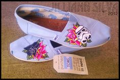 STAR WARS or Any Theme Shoes - Simple and Cute - Shoes included - For Toms add 30.00 to final price. $70.00, via Etsy.