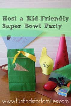 Kid-Friendly Super Bowl Party - Crafts and Recipes to keep the kids busy during the big game! via Fun Finds for Families