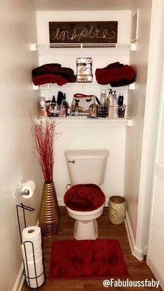simple Bathroom Decor 10 Safe Tips AND Tricks: Hall Bathroom Remodel Entry Ways cheap bathroom remodel link.Easy Bathroom Remodel Farmhouse Style old bathroom remodel hardware. Bathroom Red, Hall Bathroom, Simple Bathroom, Bathroom Ideas, Paint Bathroom, Shower Bathroom, Bathroom Commode, Narrow Bathroom, Glitter Bathroom