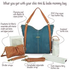 Teal Blue Nappy Bag set from timi & leslie available in Australia RRP $269.99  www.timiandleslie.com.au