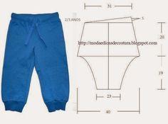 Moda e Dicas de Costura: CALÇA DE CRIANÇA 2_3 ANOS: