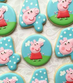 Peppa pig birthday cookies Chuck your birthday celebration which is basic, elegant, and amazing! Peppa Pig Cookie, Peppa Pig Birthday Cake, Birthday Cookies, Peppa Pig Cupcake, 3rd Birthday, Birthday Celebration, Pig Cupcakes, Pig Cookies, Cookies For Kids
