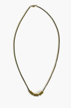 Love the geometric simplicity of this brass necklace <3 $28