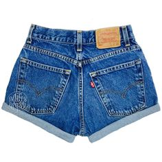 Vintage Levi Shorts High Waisted Denim Shorts Jeans All Sizes Back to... (€24) ❤ liked on Polyvore featuring shorts, denim shorts, ripped jean shorts, cotton shorts, vintage high waisted shorts and distressed jean shorts