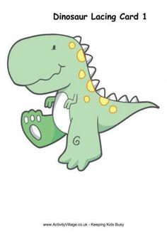 Dinosaur Lacing Card 1