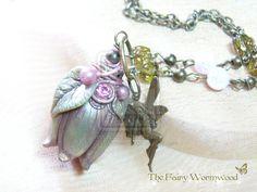 Fairy Green Blueberry Bloom Necklace by FairyWormwood.deviantart.com on @deviantART