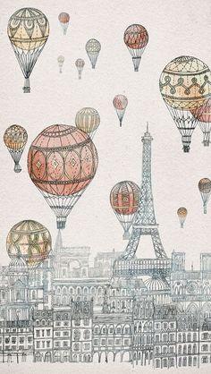 Voyages Over Paris  - David Fleck