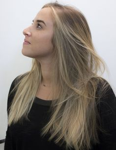 Hair by Holly Jones, ombre, highlights, blonde, long hair, beverly hills, hairstylist