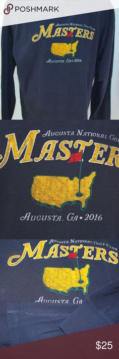 """Augusta National Masters Vintage Look  L/S """"Tee"""" antastic Vintage Look Masters 100% Cotton Lightweight T-shirt in XL by 47 Brand  Outstanding graphics, this is one really sharp shirt Nice tailored hem at bottom and banded sleeves   Iconic Augusta National Logo enlarged and featured on front   Purchased at the Augusta National Golf Gift Shop during the 2016 Masters  Lightweight and comfortable, the material is soft and easy to wear 47 Brand Shirts Tees - Long Sleeve"""