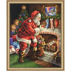 Schipper - Schipper Santa Claus at the Fireplace Paint-by-Number Kit   Cmainstreet Express   312 Main Example St , Chicago IL, 60601,