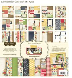 I just love this new collection by Simple Stories...the Summer Fresh Collection! I really need to get this kit!