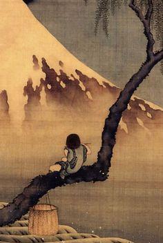 .Hitodama deyuku kisan janatsa no hara  Now as a spirit  I shall roam  The summer fields  .  ~Hokusai - written just before his death.