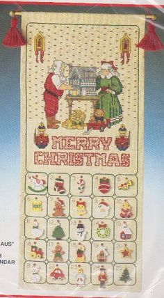Bucilla Christmas Mr. & Mrs. Claus Counted Cross-Stitch Advent Calendar 82564    Bucilla+Christmas+Mr.+&+Mrs.+Claus+Counted+Cross-Stitch+Advent+Calendar+82564