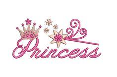 Diseño de bordado Tiara princesa 2 tamaños de por JoanSewingStore