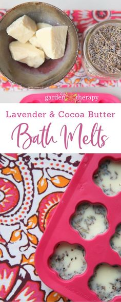 Best Ideas For Diy Crafts : Lavender and Cocoa Butter Super Moisturizing Bath Melts Recipe - ListFender Bath Recipes, No Salt Recipes, Soap Recipes, Bath Salts Recipe, Diy Beauty Makeup, Bath Melts, Beauty Recipe, Cocoa Butter, Shea Butter