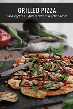 Grilled Pizza with Eggplant
