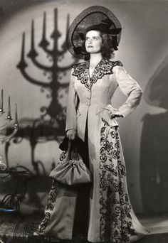 Karádi  Katalin Fashion History, Hungary, 1940s, Famous People, Glamour, Actors, Costumes, Portrait, Israel