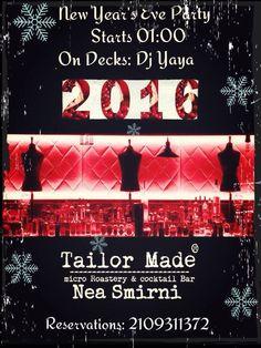 Υποδεχόμαστε το 2016 με #tailormade διάθεση #neasmirni #new_years_eve #happy_2016 #enjoy #be_there
