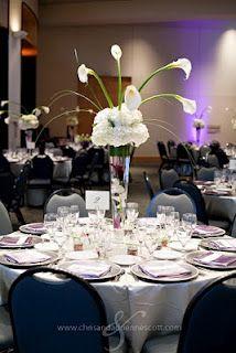 My wedding thing: 10 centres de table avec des aromes/callas