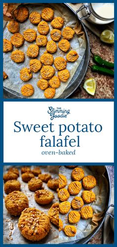 Baked sweet-potato falafel makes a perfect snack, addition to a salad or appetiz… Baked sweet-potato falafel makes a perfect snack, addition to a salad or appetizer. These are baked to keep them healthy and low in fat. Slimming World Vegetarian Recipes, Vegan Slimming World, Slimming World Snacks, Good Healthy Recipes, Vegan Recipes, Vegan Vegetarian, Slimming World Fakeaway, Italian Recipes, Free Recipes