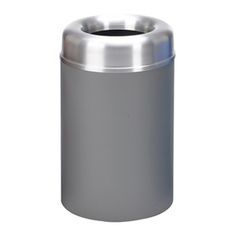 30 Gallon Crowne Receptacle with Open Top   Trash Receptacles   Upbeat.com