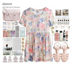 """""""alamort"""" by tickling ❤ liked on Polyvore featuring MTWTFSS Weekday, Polaroid, Iosselliani, Bobbi Brown Cosmetics, Aesop, The Cambridge Satchel Company, Liberty, Full Tilt and Hasbro"""