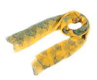 Yellow print tree desigual scarf autumn summer 100% mulberry silk georgette foulard long silk scarves hijab silk scarf 177*105cm