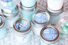 Many great Frozen themed party ideas (if she is still into that when her bday comes?). The Snowk, jello, and trail mix seem very easy!