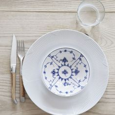 White Elements and Blue Fluted Plain in the 2012 Royal Copenhagen Catalogue