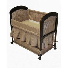 Arms Reach Concepts The Cambria Wood Co-Sleeper w/Quilted Liner - Toffee 8300T