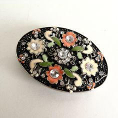 A personal favorite from my Etsy shop https://www.etsy.com/listing/269433481/pretty-cowgirl-jeweled-enameled-floral