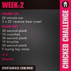 Spartan Training: Chicked Challenge (Week 2)