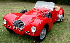 1952 Allard K2 Roadster- I had a friend w/one of these with a supercharged Oldsmobile engine. Another friend & I pulled it to Great Bend, Kansas in ~1953 or '54 to compete in the 1st NHRA Drag Races. What fun to see what, at the time, were the fastest cars in the world!
