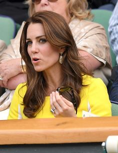 Catherine, Duchess of Cambridge attends day ten of the Wimbledon Tennis Championships at Wimbledon on July 07, 2016 in London, England.